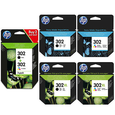 Genuine HP 302 Combo / 302XL Black And Colour Ink Cartridges *Choose Your Ink* • 13.99£