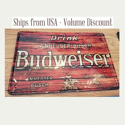 $ CDN12.60 • Buy Budweiser Sign Budweiser Metal Sign Budweiser Man Cave Sign Budweiser Gifts Tin