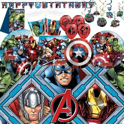 Marvel Avengers Party Supplies Tableware, Decorations & Balloons • 3.25£