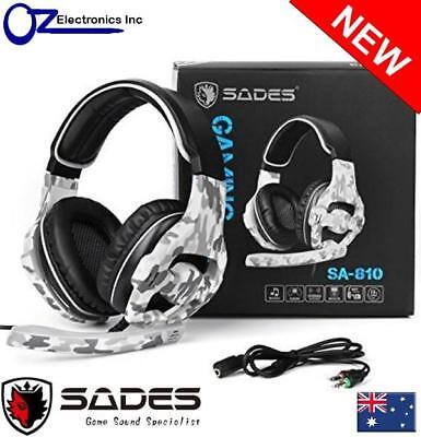 AU49 • Buy SADES SA-810 Multi Platform Gaming Headset Mic Chat Camouflage Xbox One PS4 GD