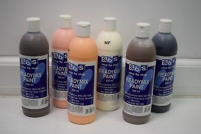 £13.80 • Buy SBS Ready Mix Paint Colour 500ml People Skin Tone Colour Set Of 6 (Out Of Date)