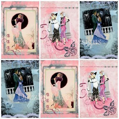 £2.90 • Buy ROMANTIC ART DECO...Ideal Embellishments, Card Making Toppers, Card Toppers (12)