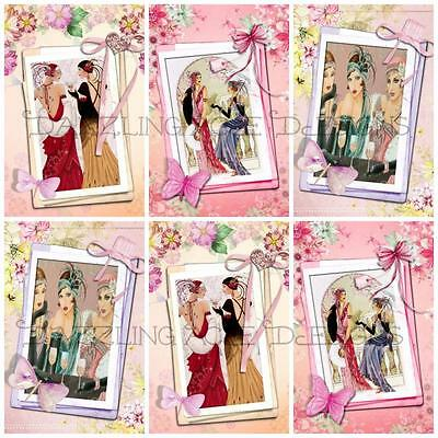 £2.90 • Buy BEST FRIENDS ART DECO Embellishments (12), Card Making Toppers, Card Toppers
