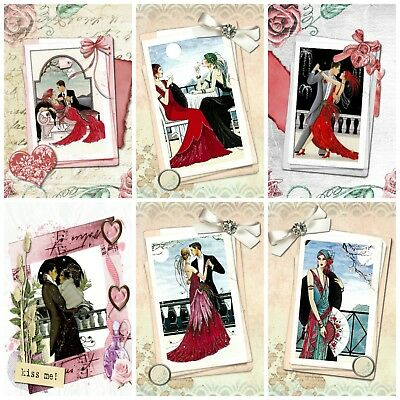 £2.90 • Buy DANCE AWAY ART DECO  TOPPERS Card Making Toppers, Card Toppers (12)