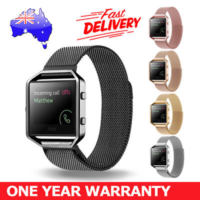 AU14.85 • Buy Milanese Stainless Steel Magnetic Loop Wrist Band Strap + Frame For Fitbit Blaze