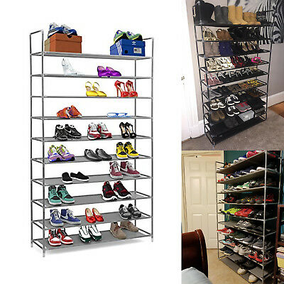 AU58.26 • Buy 10 Tiers Standing Shoe Tower Rack Stackable 50 Pairs Organizer Free Space Saver