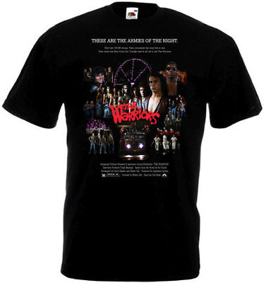 The Warriors V1 T Shirt Black Movie Poster All Sizes S-5XL • 13.80£