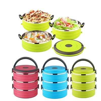 AU88.94 • Buy Lunch Box Thermal Insulated Stainless Thermo Server Food Storage Container