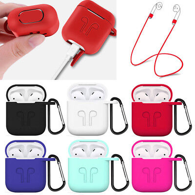 $ CDN4.84 • Buy Strap Holder & Silicone Rubber Case Cover Skin For Apple Airpods Accessories