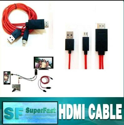 AU16.75 • Buy Micro USB MHL To HDMI Cable Adapter HDTV For Most Smart Phones