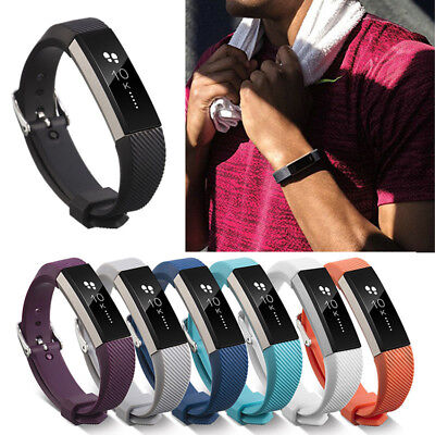 AU2.91 • Buy Silicone Replacement Wristband Metal Buckle Watch Band Strap For Fitbit Alta/HR
