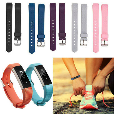 $ CDN1.60 • Buy Soft Silicone Wristband Band Replacement Strap Sport For Fitbit Alta & Alta HR
