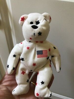 $250 • Buy Ty Beanie Baby Glory Bear - (USA Stars Teddy Bear) ORIGINAL RETIRED