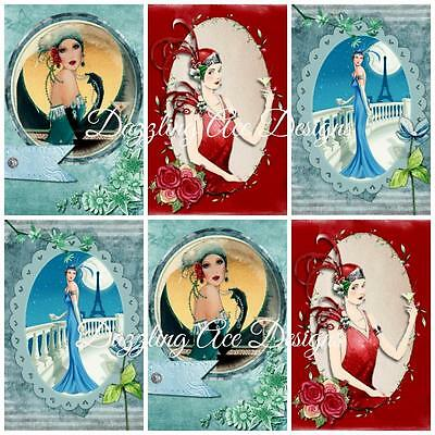 £2.90 • Buy  ART DECO COCKTAIL HOURS..Embellishments, Card Making Toppers, Card Toppers