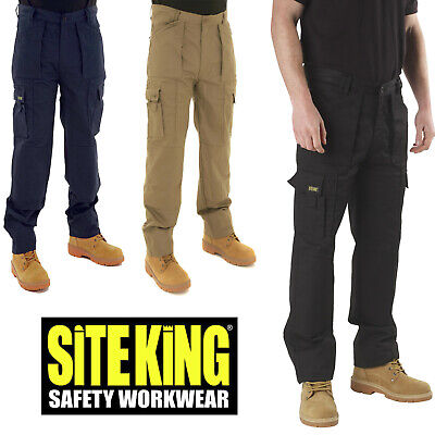 £21.99 • Buy SITE KING Mens Combat Multi Pocket Action Work Trousers With Knee Pad Pockets 03