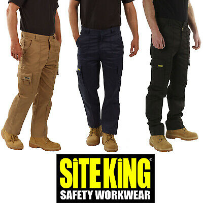 £18.99 • Buy Mens Original Cargo Combat Work Trousers By SITE KING Size 28 To 52 - GENUINE 02