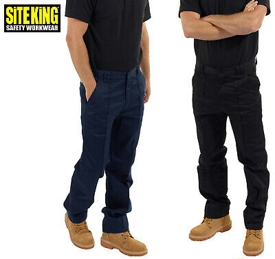 £14.99 • Buy SITE KING Classic Mens Work Trousers Size 28 To 52 In Black Or Navy Blue - 001