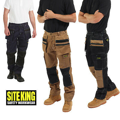 £31.99 • Buy Mens Holster Pocket Elasticated Work Contrast Cargo Trousers By SITE KING - 011