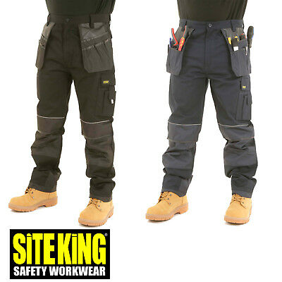 £28.99 • Buy SITE KING Heavy Duty Cargo Holster Pocket Work Trousers With Knee Pad Pocket 008