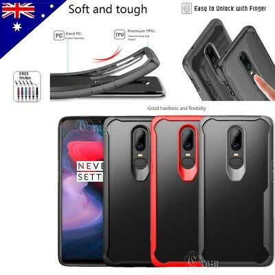 AU7.95 • Buy Heavy Duty Tough Clear Anti-Knock Shockproof Case Cover For OnePlus 6 5T