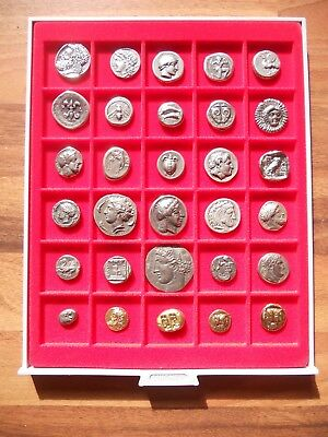 £159.99 • Buy Lot Of 30 Greek Assorted Silver & Gold Plated Ancient Coins Educational Gift