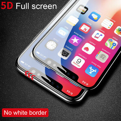 AU4.99 • Buy 5D Full Coverage Apple IPhone XS Max 8 7 6S Plus Tempered Glass Screen Protector