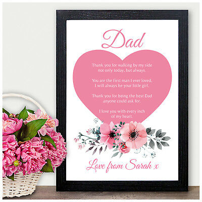 £5.95 • Buy Personalised Father Of The Bride Dad Daddy Thank You Poem Gifts Wedding Favour