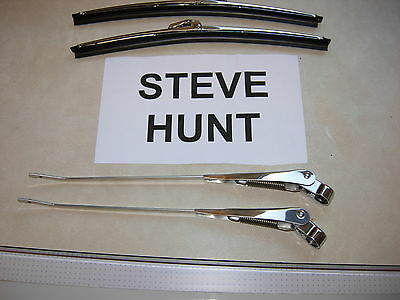 Volvo P1800 P1800e Wiper Arms And 11  Blades Rh Park Steve Hunt Wipers • 34£