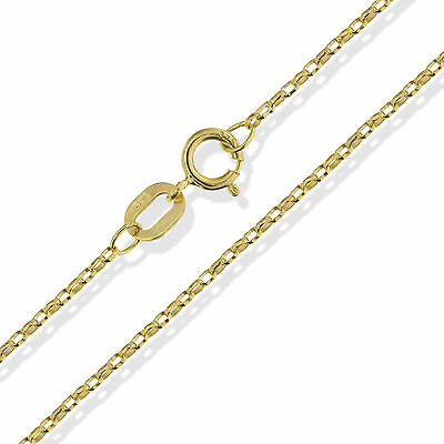 £46.99 • Buy 9ct Gold Belcher Chain 16  18  20  Round Diamond Cut Link Necklace Gift Box 375