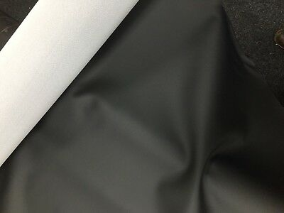 AUTOMOTIVE VINYL FABRIC BLACK Faux Leather CARS Boats Leatherette Upholstery • 0.99£