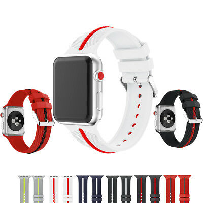 AU24.47 • Buy Sport Silicone Strap For Nike IWatch Apple Watch Band Series 3 2 1 42mm For Man