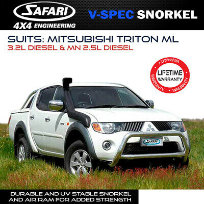 AU453.99 • Buy Safari Snorkel To Suit Mitsubishi Triton ML 3.2L Diesel & MN 2.5L Diesel V-Spec