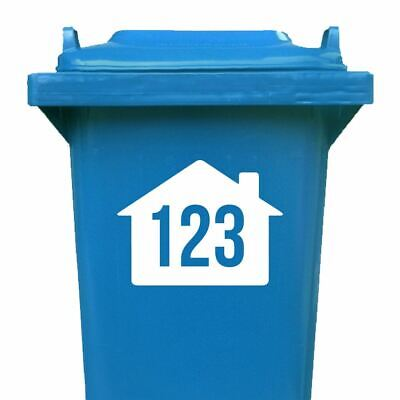 Set Of 4 Wheelie Bin Number Stickers Custom House Vinyl Graphic Decal • 2.99£