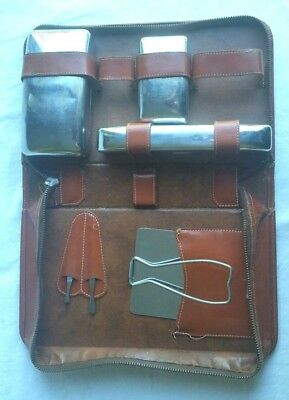 AU22.73 • Buy Mens Vintage Travel Accessories Kit Progressive Genuine Saddle Leather Sean John