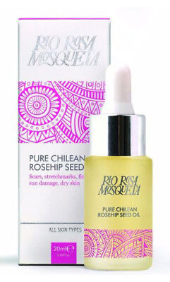 Rio Rosa Mosqueta Pure Chilean ROSEHIP SEED OIL 20ml Scars/Stretchmarks/Lines • 11.79£