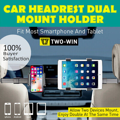 AU22.89 • Buy Auto Car Seat Headrest Phone Holder 360° Rotating Dual Mount For IPad Tablet