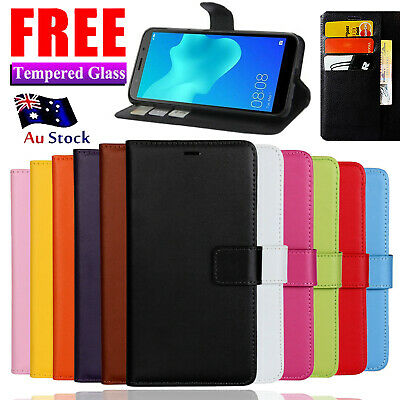 AU8.44 • Buy Wallet Leather Flip Magnetic Case Cover For Huawei Y5 Y6 2018 Y7 Pro Nova 2 Lite