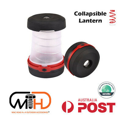 AU19.95 • Buy Collapsible Camping Camp Lantern Light AA Battery Lamp Torch Mini Portable Tent