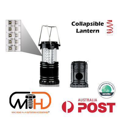 AU15.95 • Buy 1x Portable 30 LED Collapsible Camping Lantern Hiking Tent Outdoor Lamp Light