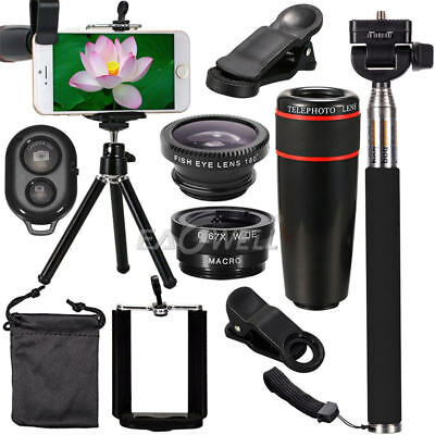 All In 1 Accessories Phone Camera Lens Top Travel Kit For Mobile Smart CellPhone • 13.02£