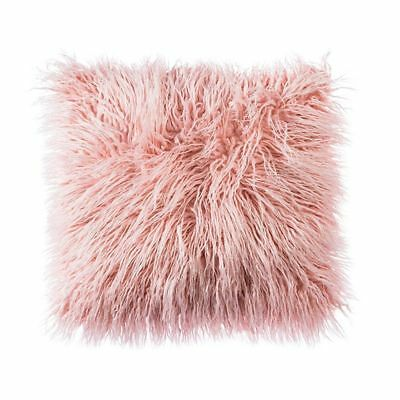 £12.99 • Buy  Pink Faux Mongolian Fur Cushion Cover With Faux Suede Back 60x60cms,24 X24