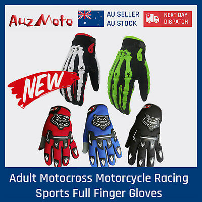 AU8.99 • Buy AU Adult MX MOTOCROSS MOTORBIKE RACING GLOVES BMX/ATV/QUAD/DIRT BIKE