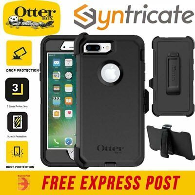 AU82.95 • Buy Otterbox Defender Rugged Strong Tough Case For Iphone 8 Plus/7 Plus - Black