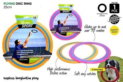 AU7.85 • Buy Mega Flying Ring Frisbee Disc Aerobie Outdoor Beach 25cm Sports Fun Game Toy VIC