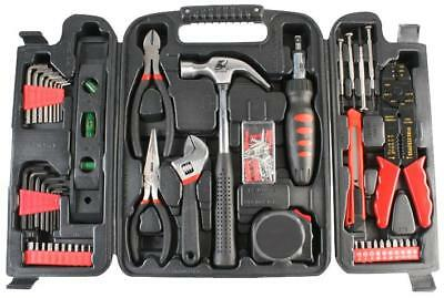 General Tool Kit & Case 129 Pc Hammer Pliers Level Tape Measure Craft Knife Hex • 36.39£