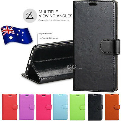 AU8.49 • Buy Premium Leather Wallet Case Cover For Oppo A73 F5 A57 R15 Pro Card Pocket Stand