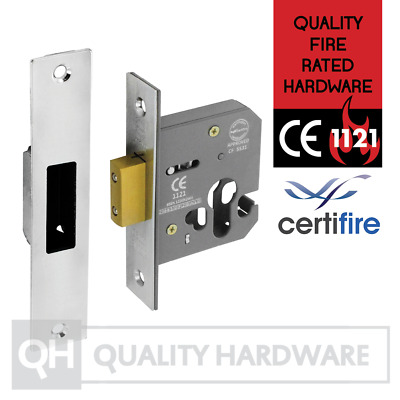 £14.95 • Buy Euro Cylinder Dead Lock Case Only 64/76mm (2.5/3 ) Satin Stainless Steel