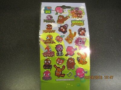 £0.99 • Buy Fun Foiled Stickers - Small - Moshi Monsters - Brand New!