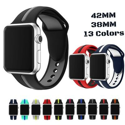 AU21.75 • Buy Sport Silicone Strap Band For Nike+ IWatch Apple Watch Series 1 2 3 42mm 38mm