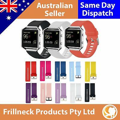 AU8.19 • Buy Replacement Silicone Band Sport Bracelet Fitness Watch Strap For Fitbit Blaze